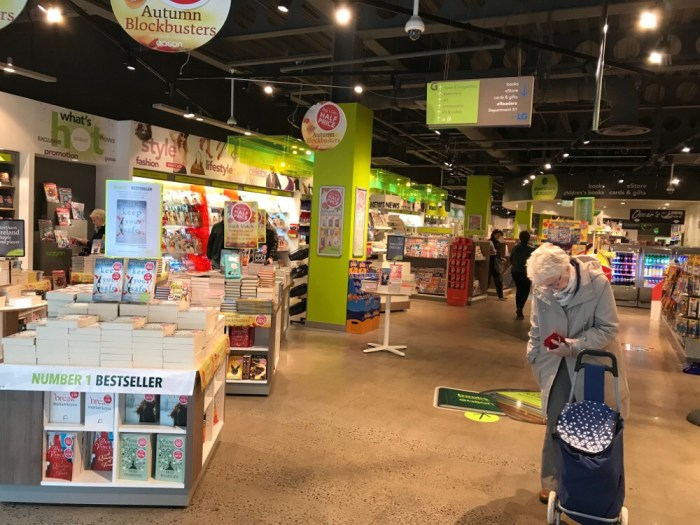 Easons, Belfast. Just one of the two floors packed with reading material