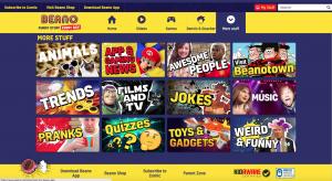 Beano Site Screenshot - 10th January 2018