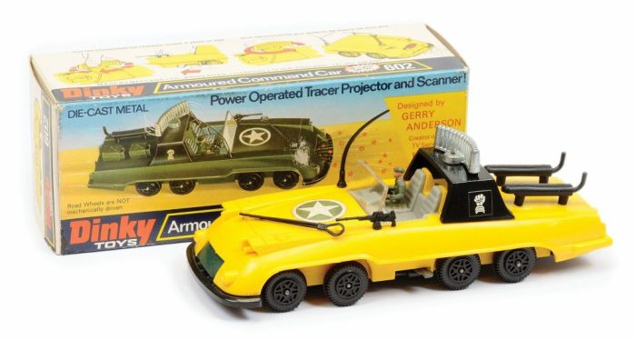 "A Gerry Anderson ""Armoured Command Car"" prototype toy (with English language box) from the unrealised Gerry Anderson TV series The Investigator. Image: Vectis"