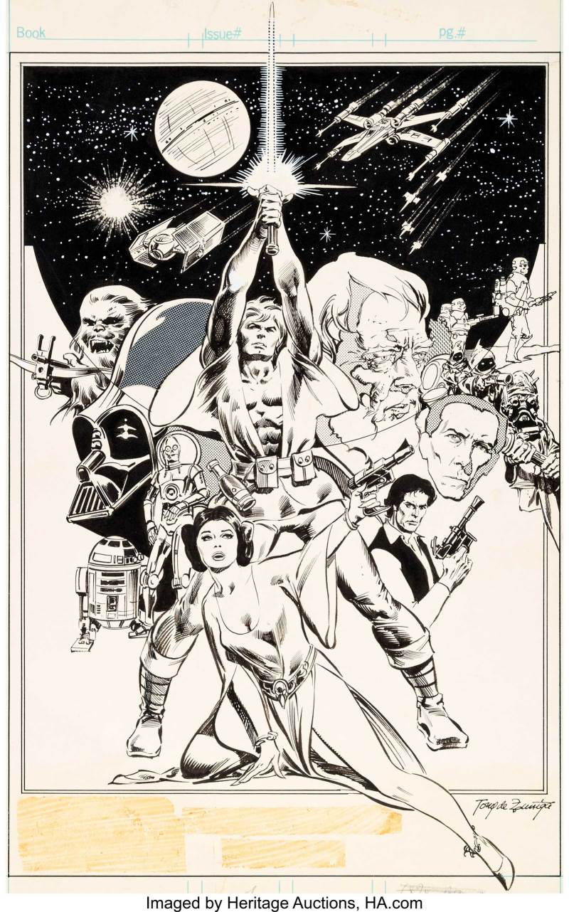 Star Wars Weekly #1 - Pin-Up art by Tony DeZuniga