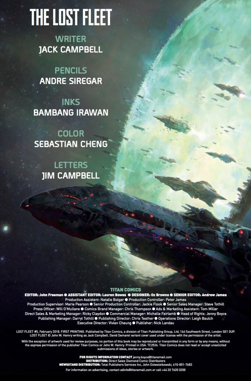 The Lost Fleet - Corsair #5 - Credits