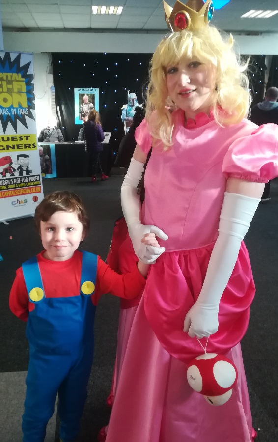Princess Peach and Mario cosplay. Photo: Colin Noble