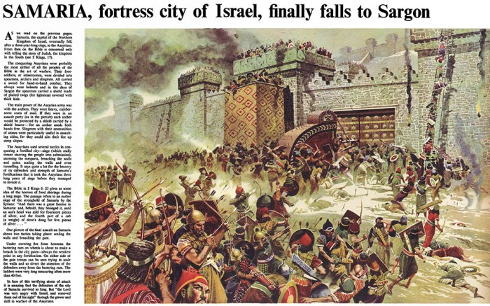 """""""The Fall of Samaria"""" for The Bible Story, by Don Lawrence"""