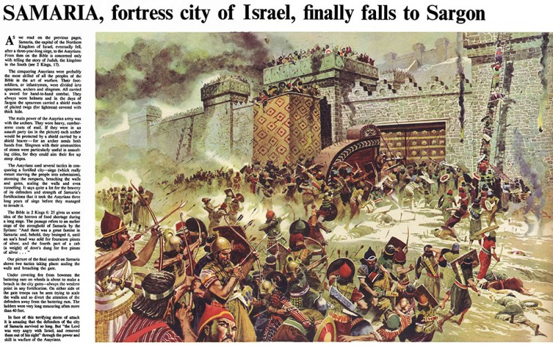 """The Fall of Samaria"" for The Bible Story, by Don Lawrence"