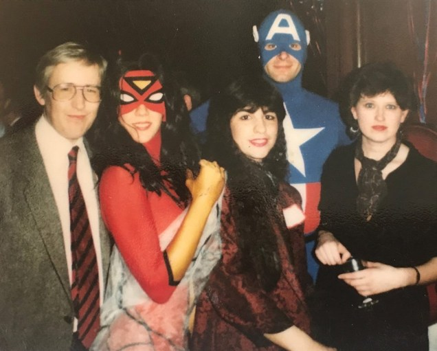 Robert Sutherland (left) and team at Marvel UK. Jenny O'Connor pictured on right