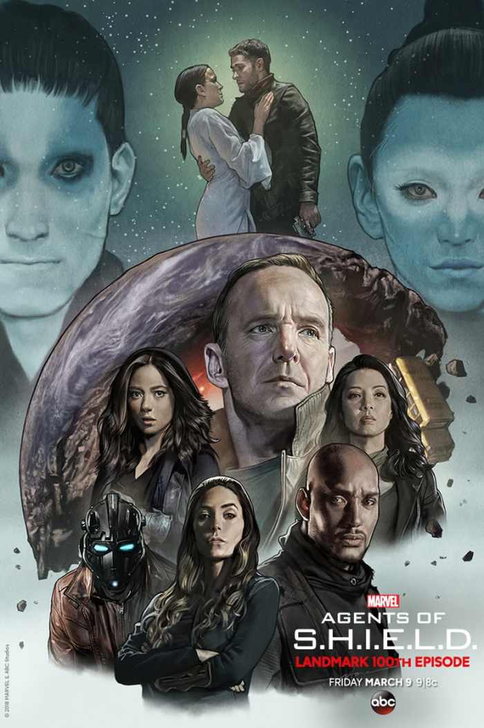 A special Marvel Agents of S.H.I.E.L.D. poster featuring characters from Season 5 so far, as broadcast by ABC. Poster created by Stonehouse