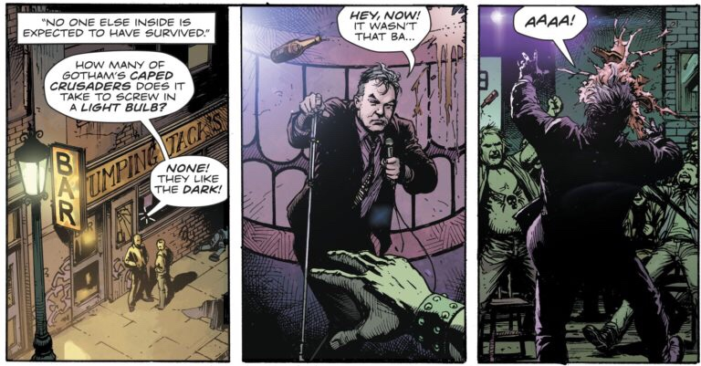 "Stewart Lee's ""appearance"" in Doomsday Clock #3 by Geoff john, art by Gary Frank © DC"