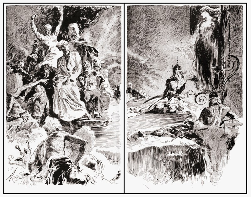 Art by Joseph Clement Coll auctioned in 2014 on behalf of Locus
