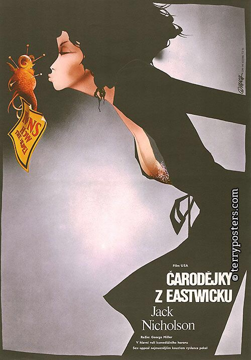 The Witches of Eastwick (1989). Art by Zdeněk Vlach