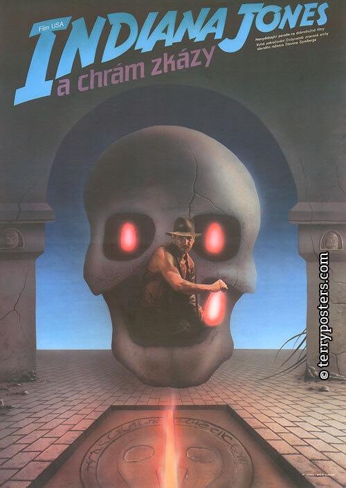Indiana Jones and the Temple of Doom (1986). Art by Milan Pecák