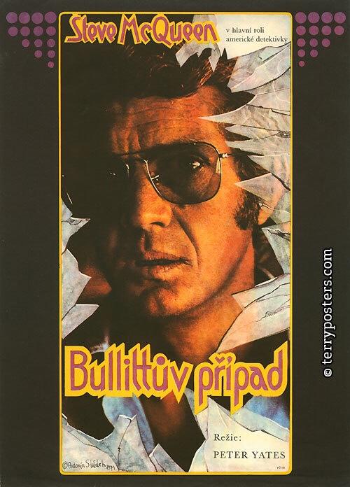 Bullitt (1971). Art by Antonín Sládek