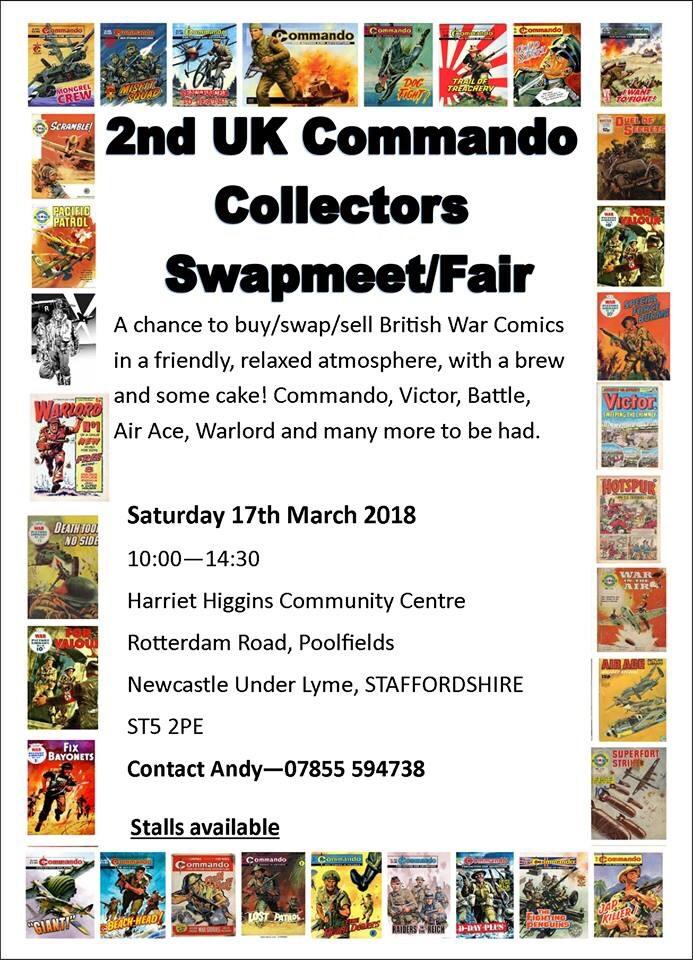 Second Commando Collectors Swapmeet - Poster