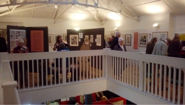 The opening of 50! Glorous Shows! the Cartoon Museum's last exhibition at its Little Russell Street home. Photo: Richard Sheaf