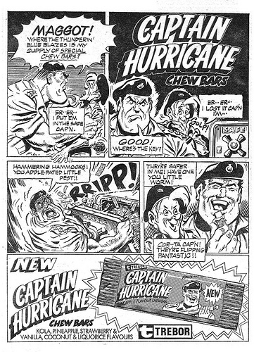 Captain Hurricane - Trebor Ad by Frank Langford