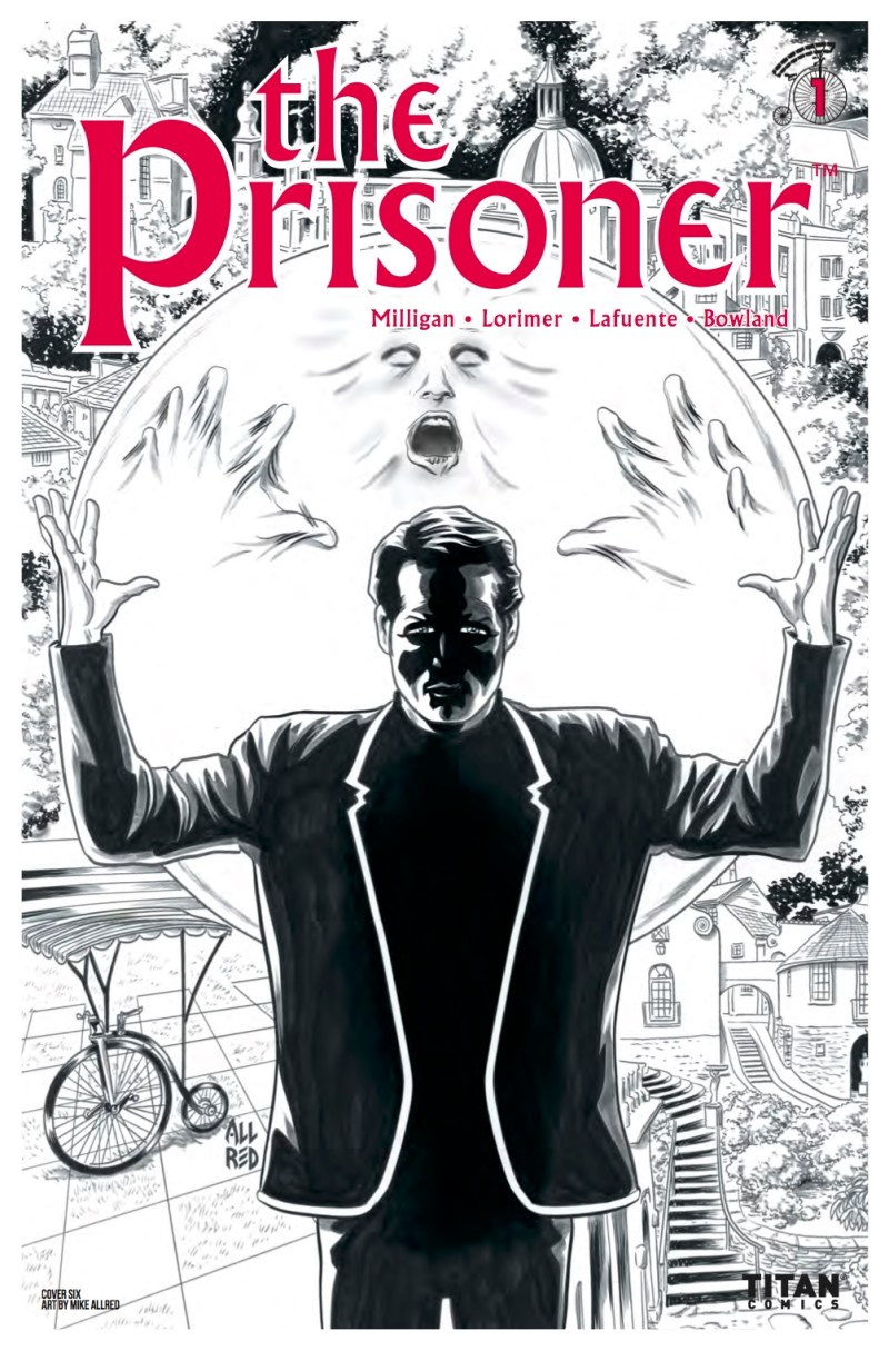 The Prisoner #1 Cover F: Mike Allred Black and White Variant