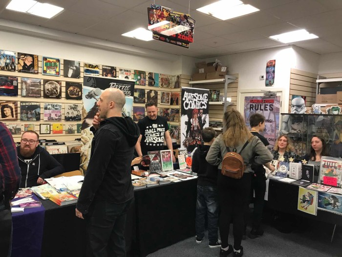 Swindon Small Press Event 2018 - Awesome Comics Podcast, Wine and Zine ( Claire Spiller and Jessica Langley)