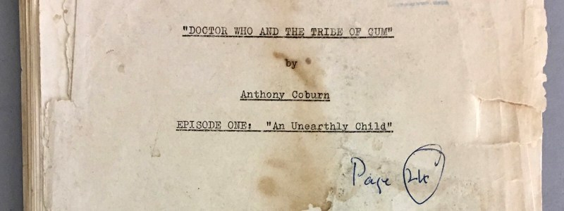 "William Hartnell's ""An Unearthly Child"" Doctor Who script SNIP"