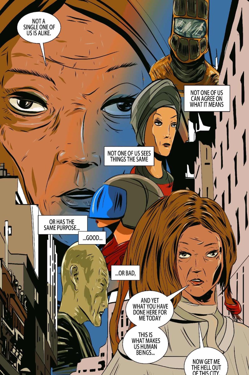 The Human Beings Issue 5 - Sample Art