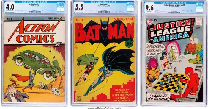 Action Comics, Batman and justice League of America #1