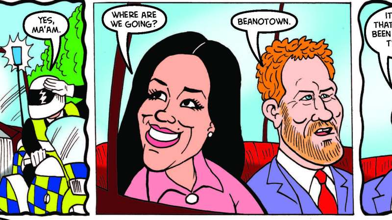 Royal Wedding plans changed in secret, venue moves to Beanotown — and chaos ensues!