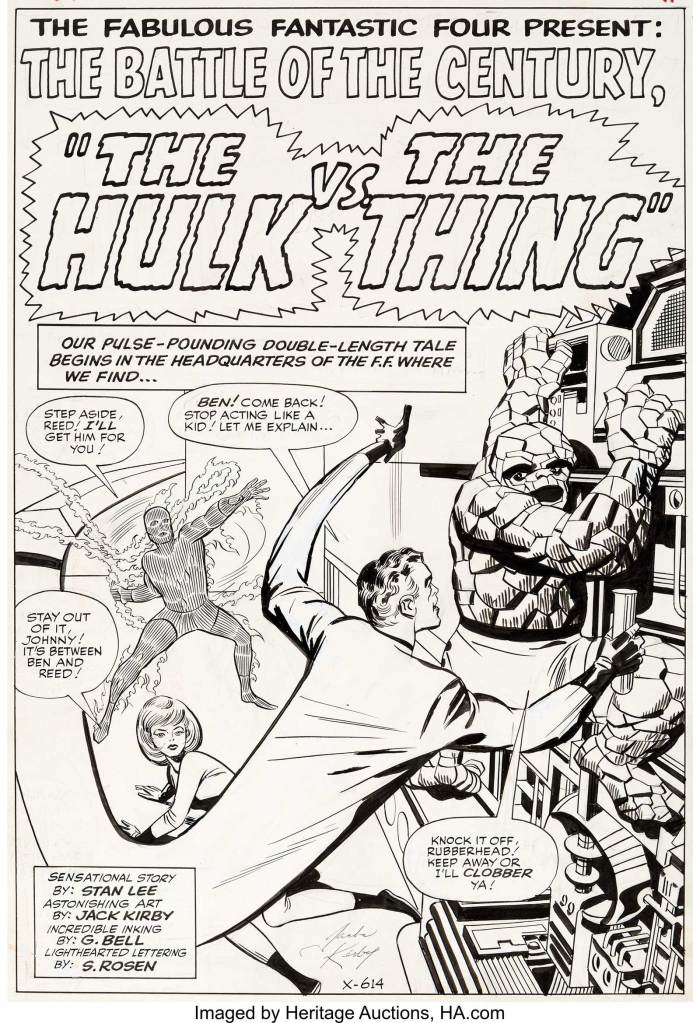 Jack Kirby and George Roussos (as G. Bell) Fantastic Four #25 Splash Page Original Art (Marvel, 1964)