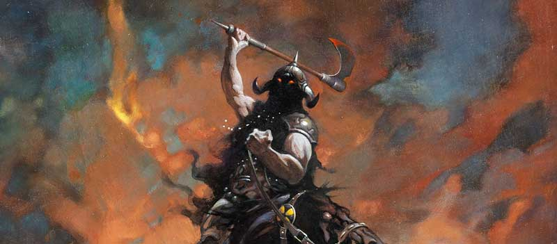 Frank Frazetta Death Dealer 6 Painting Original Art (1990) SNIP
