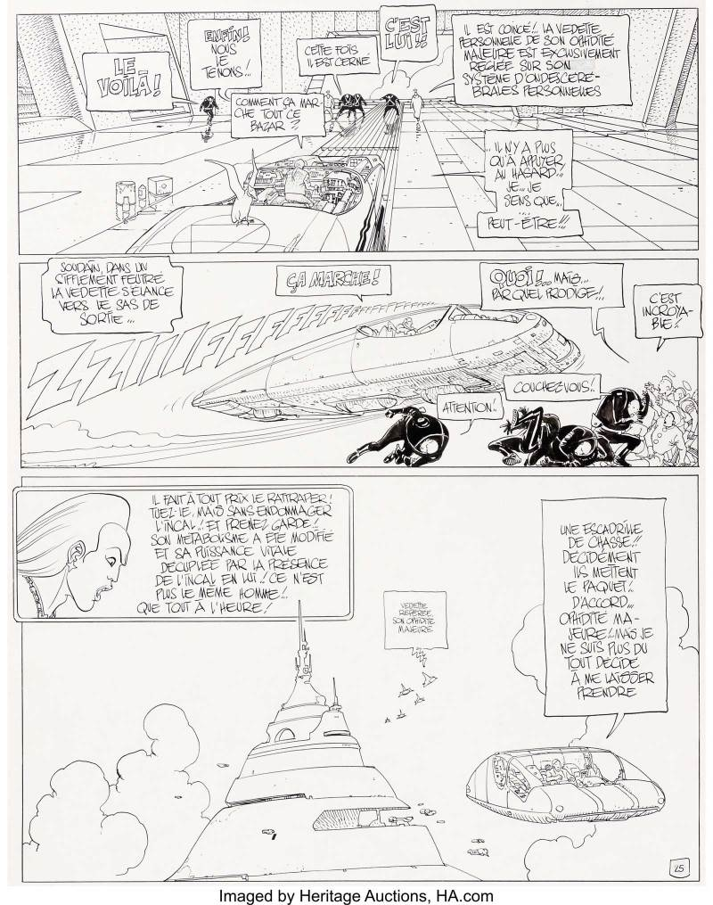Moebius (Jean Giraud)The Black Incal Page 25 Original Art (Humanoïdes Associés, 1991). From a story by Jodorowsky, Moebius produced The Incal, a pillar of contemporary science fiction. This page comes from the first volume in the saga, which would inspire generations of artists worldwide