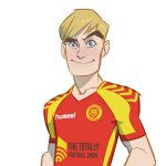 The new-look Roy of the Rovers. Art by Lisa Henke, character design by Ben Willsher. © Rebellion Publishing