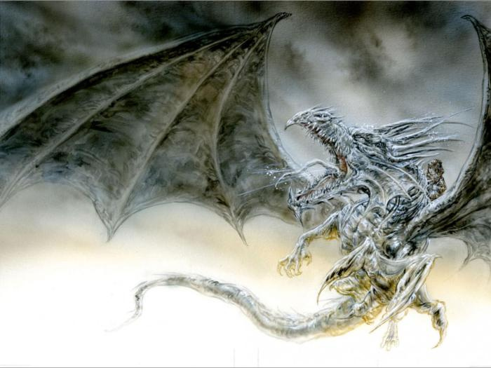 """Luis Royo's version of George RR Martin's """"The Ice Dragon"""""""