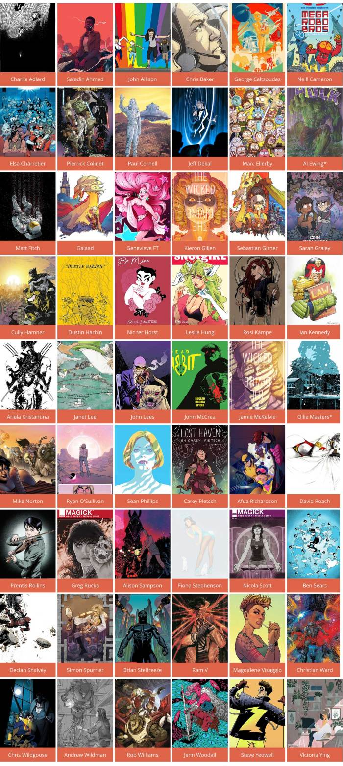 Thought Bubble 2018 - Announced Guests (May 2018)