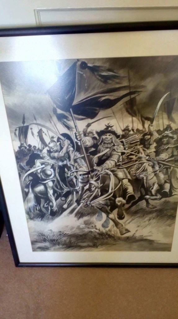 Look and Learn Annual art - Genghis Khan charge by Ron Embleton