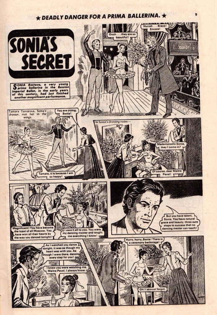 """Sonia's Secret"", published in Judy in the 1970s. Artist unknown"