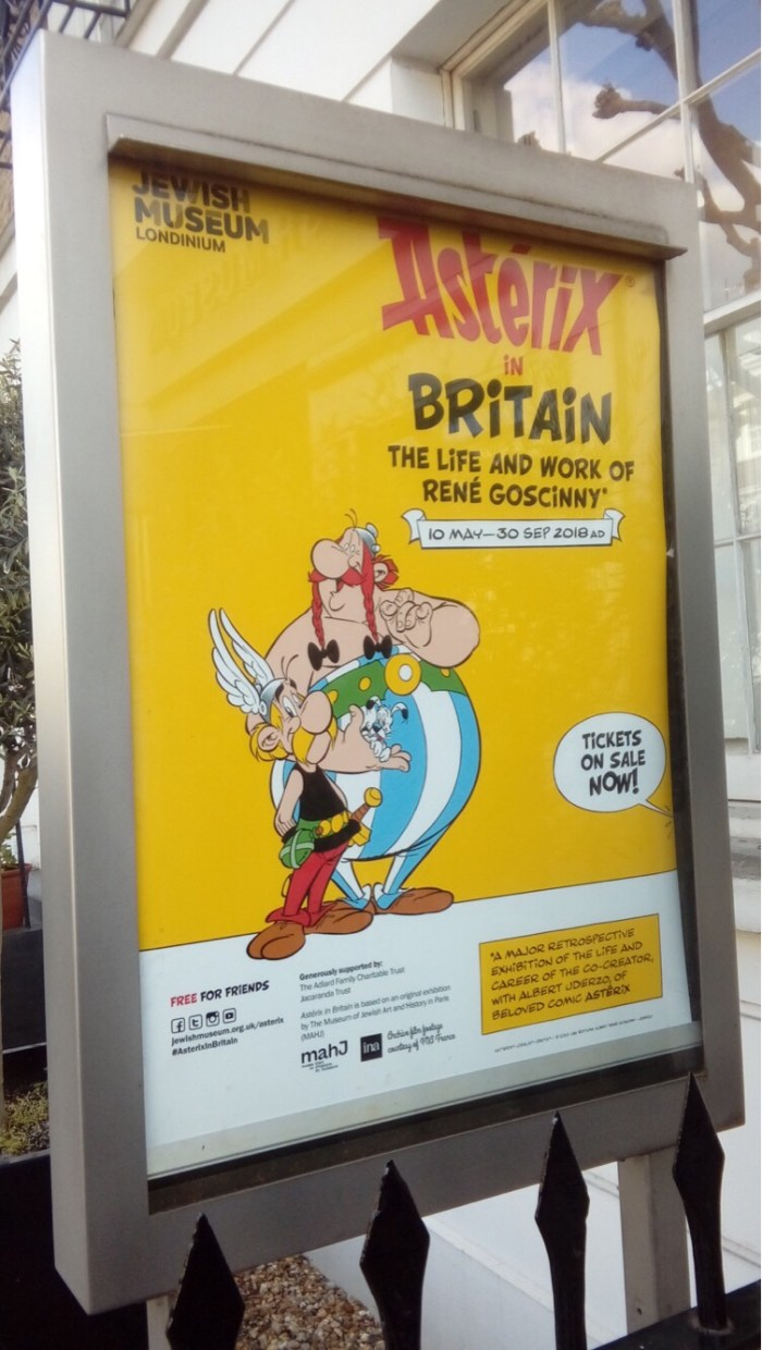 Asterix in Britain Exhibition 2018 - Poster
