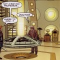 """A panel from the Doctor Who story """"Doctor Who - Armageddon Gambit"""", written by John Freeman, art by Christopher Jones, colour by Marco Lesko"""