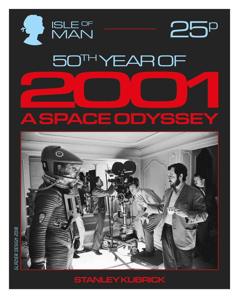 50 Years of 2001: A Space Odyssey - Isle of Man Stamps - Stanley Kubrick