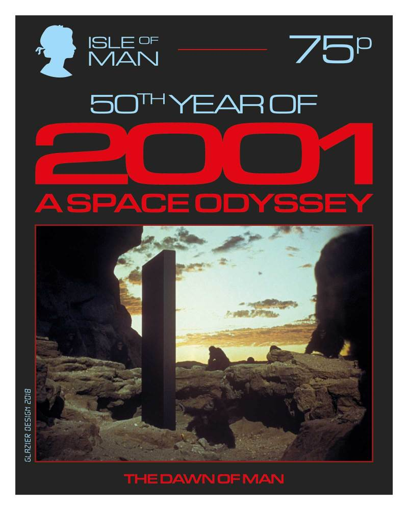 50 Years of 2001: A Space Odyssey - Isle of Man Stamps - Dawn of Man