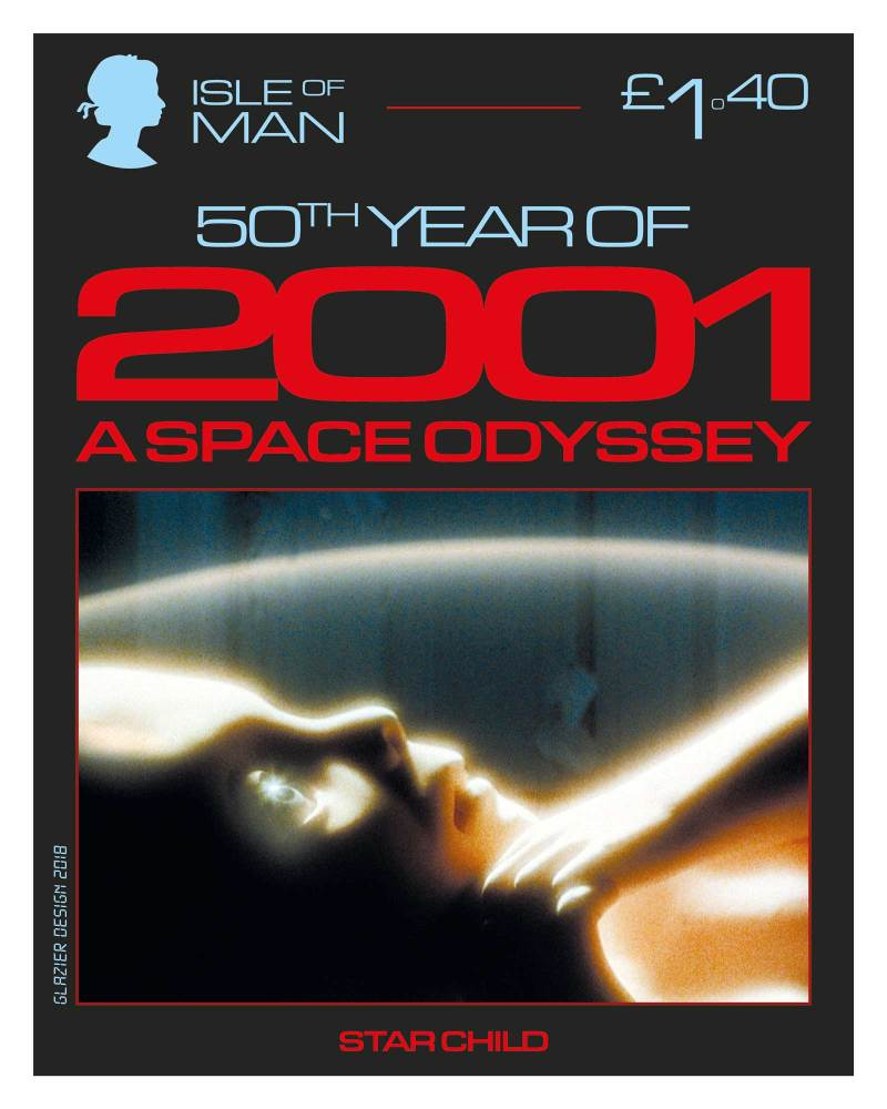 50 Years of 2001: A Space Odyssey - Isle of Man Stamps - Starchild