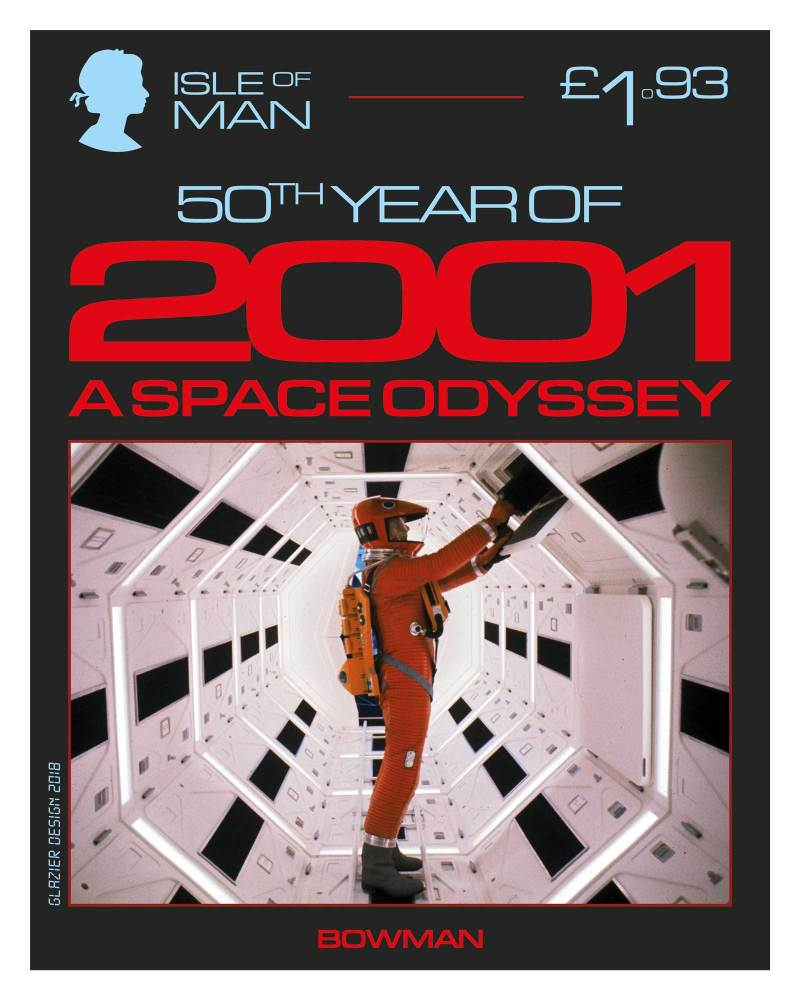 50 Years of 2001: A Space Odyssey - Isle of Man Stamps - Bowman