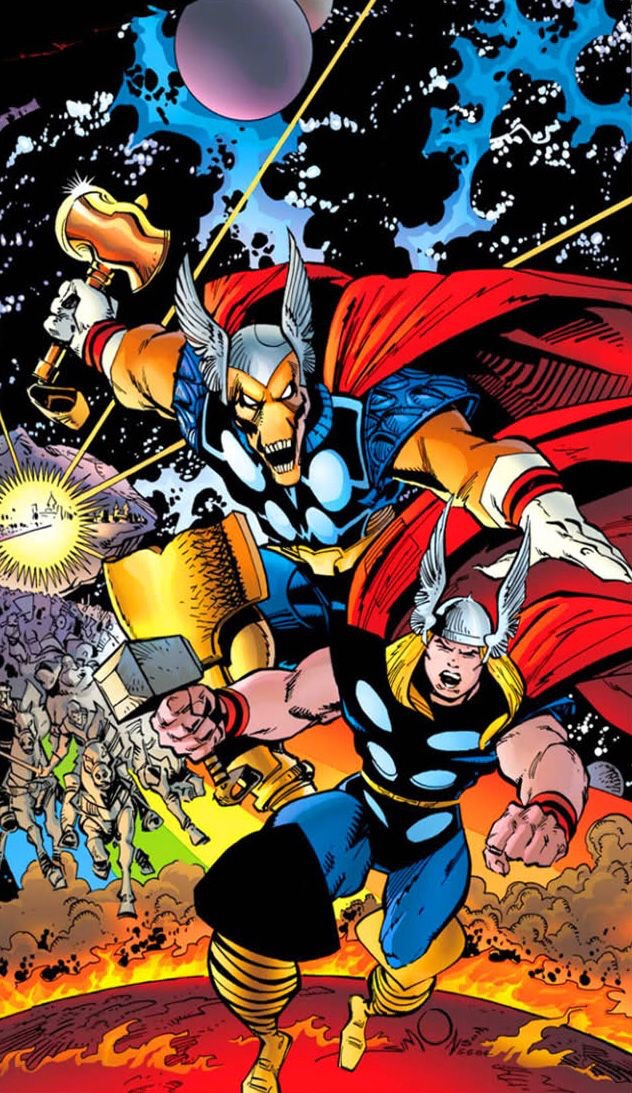 Beta Ray Bill and Thor by Walt Simonson © Marvel