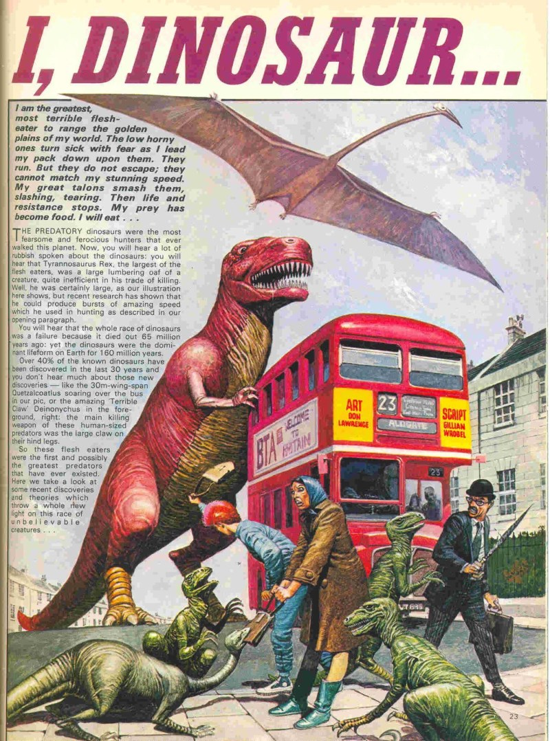 Look Alive Issue One - I, Dinosaur by Don Lawrence and Gillian Wrobel