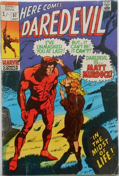 Daredevil #57 - UK Cover