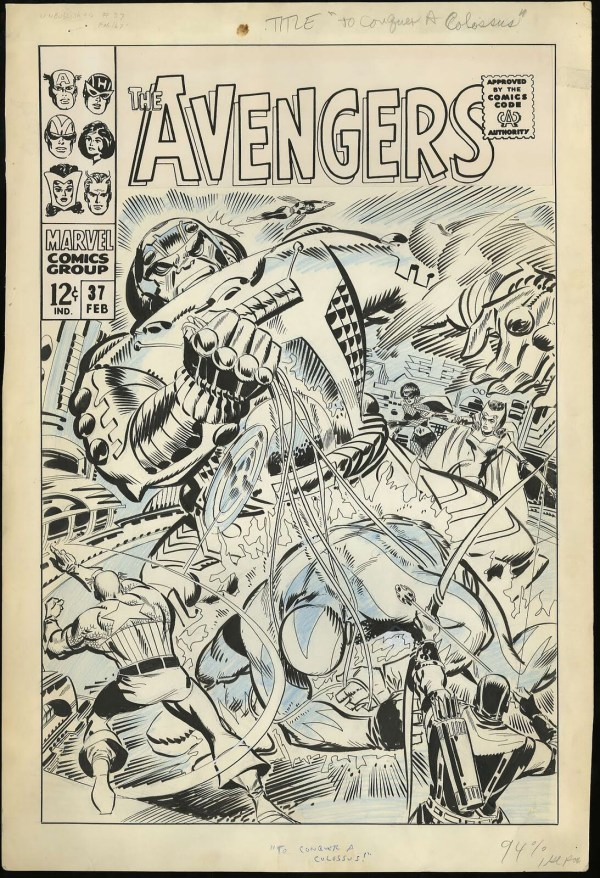 The cover of The Avengers #37