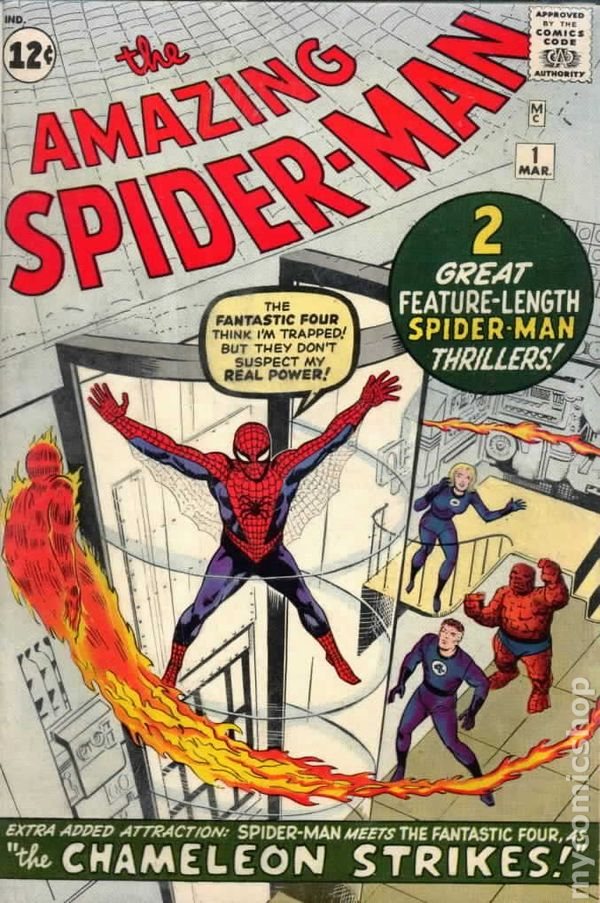 The cover of Amazing Spider-Man #2, pencilled by Jack Kirby, inks by Steve Ditko