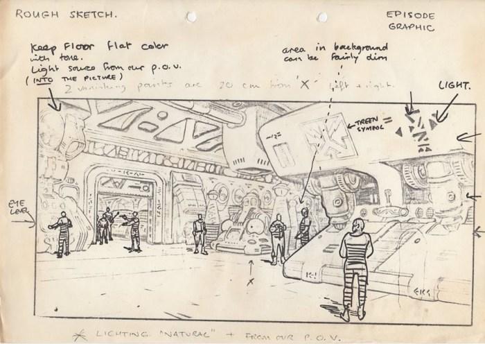 "An ""Episode Graphic"" by Brett Ewins for the proposed ATV Dan Dare series. Image courtesy Dale Jackson"