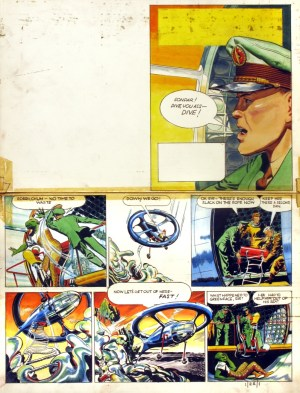 Original Dan Dare art for Eagle Volume 1 No.22 by Frank Hampson, offered by the Chris Beetles Gallery - for £5000