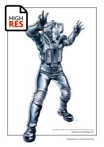 Revenge of the Cybermen Print by Graeme Neil Reid
