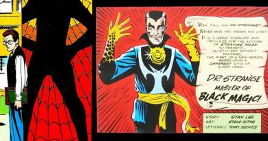 Art from Marvel's Amazing Fantasy #15/ Strange Tales #110 - First appearances of Spider-Man and Doctor Strange. Art by Steve Ditko