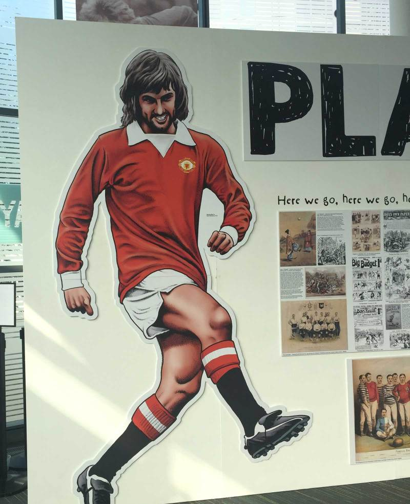 George Best art by Steve McGarry