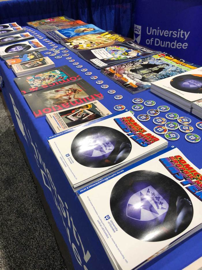 Promoting Scottish comics at San Diego Comic Con 2018