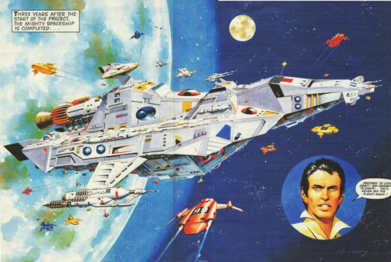 The spaceship Wildcat introduced in the Wildcat Preview Comic. Art by Ian Kennedy